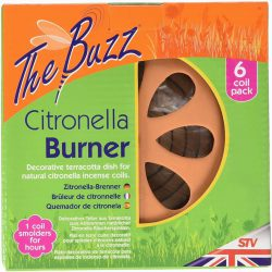 The Buzz Citronella Burner & 6 Coil Pack