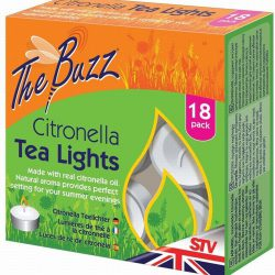 The Buzz Citronella Tea Lights – 18 Pack