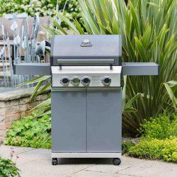 Grillstream Classic 3 Burner Hybrid BBQ – Matt Grey