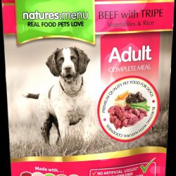 Natures Menu Pouch Beef With Tripe For Adult Dogs 300g