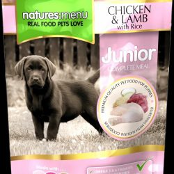 Natures Menu Pouch Chicken With Lamb For Junior Dogs 300g