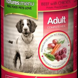 Natures Menu Can Beef & Chicken For Adult Dogs 400g